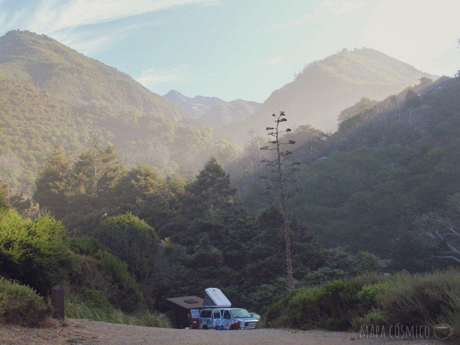 Camping de bajo presupuesto en Limekiln Park, California