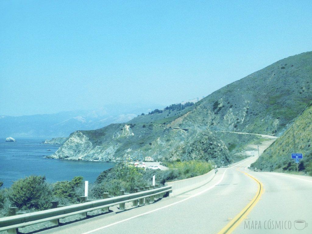 Los paisajes de la Highway 1 en la costa oeste