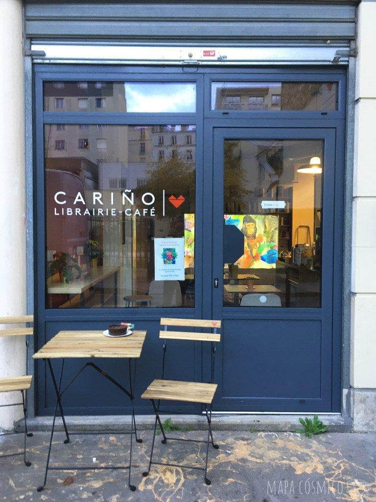 libreria cariño en Paris, ideal para café un día de lluvia