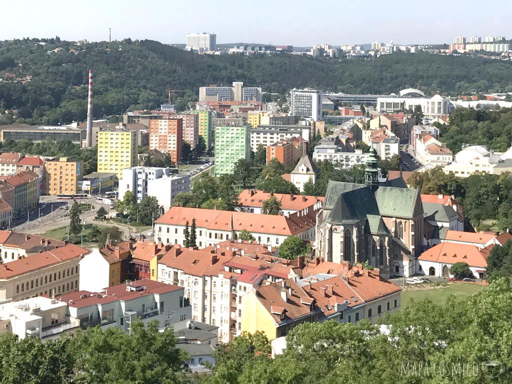 Vista de Brno desde la catedral de San Pedro y San Pablo