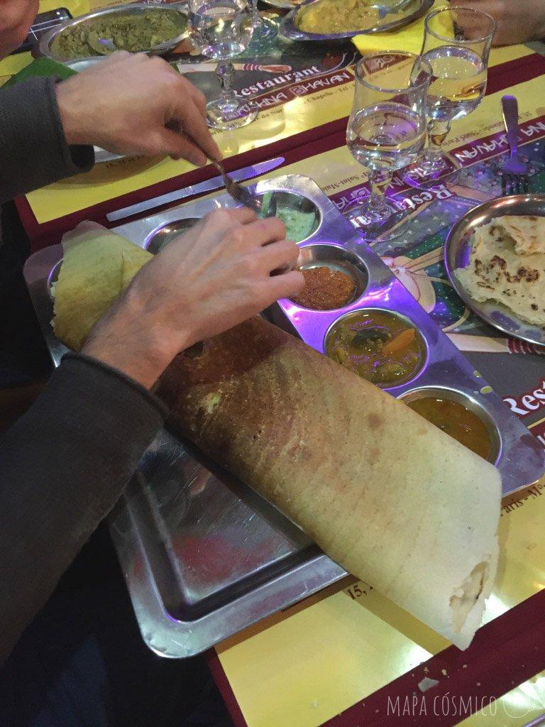 Comer vegetariano y barato en Paris: Krishna