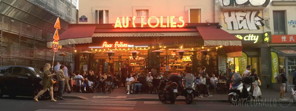 Bar Aux Folies en Belleville
