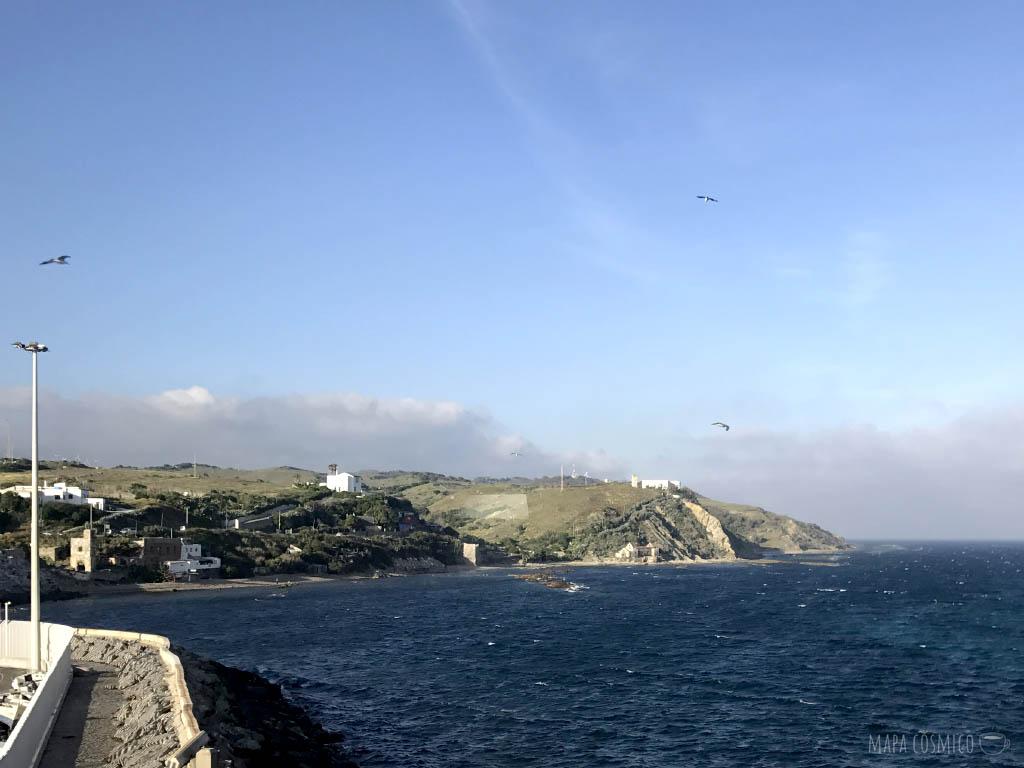 Estrecho de Gibraltar desde el puerto de Tarifa